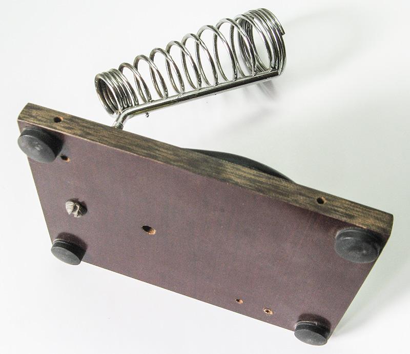 Как сделать устойчивой подставку для паяльника, stable stand for soldering iron DIY