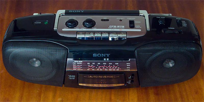 Auto reverse. Radio. 1997. 1998. 1999. Sony CFS-B7S. Audio cassette corder. Stereo