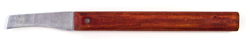 Самодельный нож для очистки овощей и фруктов от кожуры с изогнутым лезвием. Овощечистка своими руками
