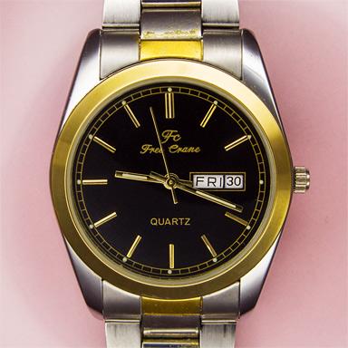 Наручные часы кварцевые с датой и днём недели с Алиэкспресса через 4 года ношения