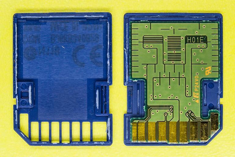 Разборка SD флеш карты - PCB circuit board - печатная плата