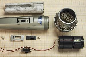 Дешёвый динамический микрофон Одеон, разборка, что внутри, переделка, сделать и добавить усилитель, схема