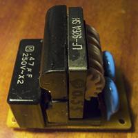 Сетевой фильтр из старого устройства сборка обратно, схема, supply-line filter layout assembly