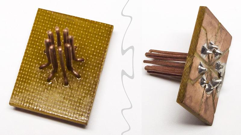 Самодельная контактная площадка для тестирования транзисторов