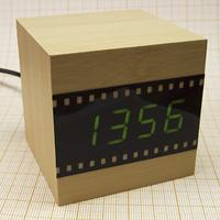 Деревянные куб часы будильник bp Rbnfz, доработка, как разобрать, cube wood clock alarm from China modification