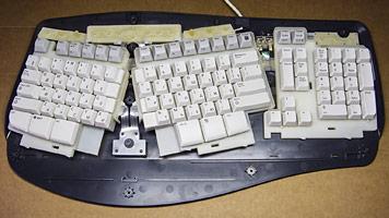 Энергосберегающая клавиатура microsoft natural multimedia начала глючить, некоторые кнопки не нажимаются, как отремонтировать, repair