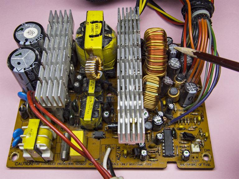 Ремонт компьютерного блока питания. Свист, свиристение, журчание, ВЧ-шум - симптомы