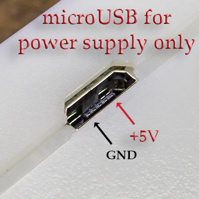 ЮСБ порт BR-6 только для питания. USB for 5V power supply only