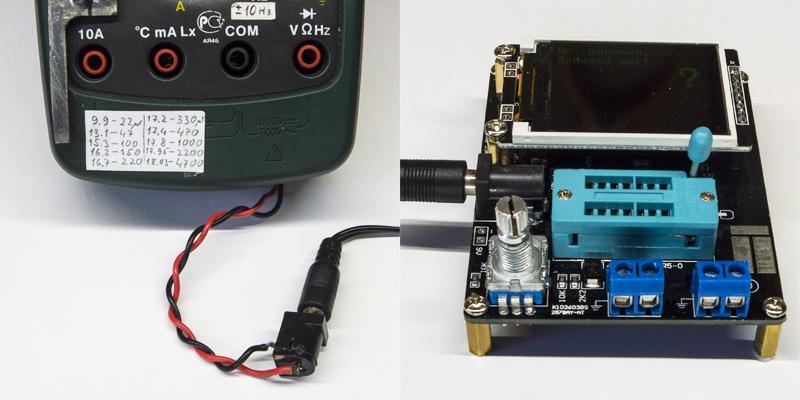 Питание от сети 220В мультиметра и транзистор-тестера. Адаптер на 9 вольт