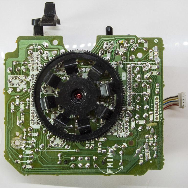 Магнитола Sony CFS-B7S обратная сторона платы радиоприёмника
