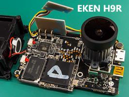 EKEN H9 полная разборка, используемые микросхемы, замена объектива и микрофона, разметка фокусировки, качесвто съёмки, цветовая коррекция