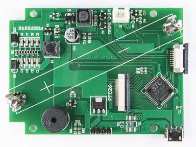 Фотография платы китайсокго дозиметра BR-6b. Разборка, что внутри, используемые детали и компоненты