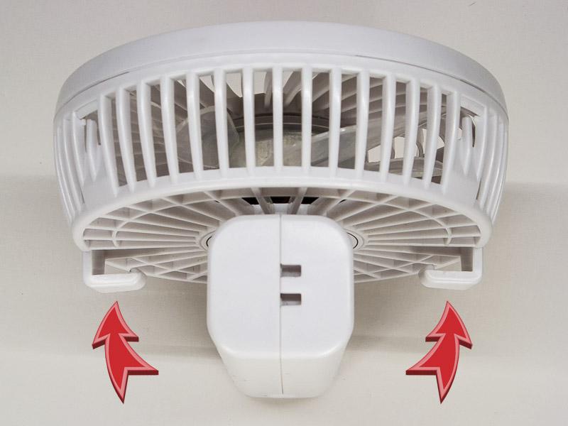 Зачем нужны крючки позади защитной решётки ручного вентилятора