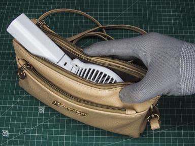 Влезает ли в дамскую сумку миниатюрный компактный вентилятор на аккумуляторе