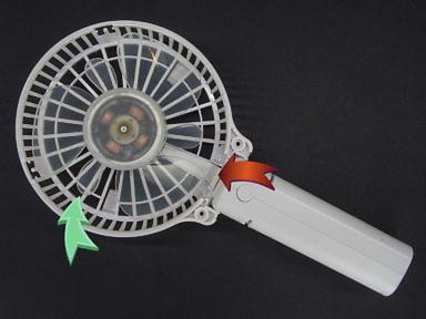 Что внутри ручного складного переносного маленького вентилятора с Алиэкспресса: дополнительные маленькие лопасти защита проводов