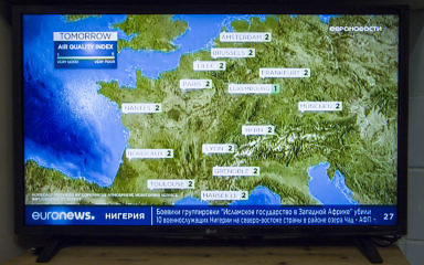 Качество изображения трансляции телеканала Евроньюз в цифровом мультиплексе - мылит!